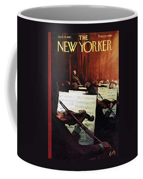 Concert Coffee Mug featuring the painting New Yorker April 28th, 1962 by Arthur Getz