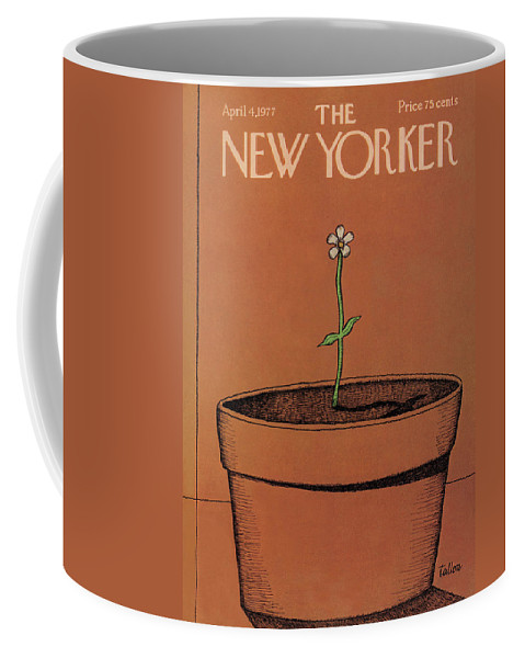 Gardening Coffee Mug featuring the painting New Yorker April 4th, 1977 by Robert Tallon