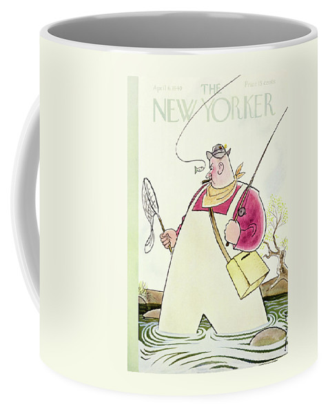 Sport Coffee Mug featuring the painting New Yorker April 6 1940 by Rea Irvin