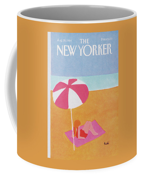 Season Coffee Mug featuring the painting New Yorker August 20th, 1984 by Heidi Goennel