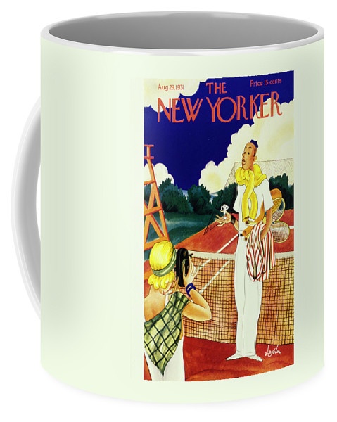 Illustration Coffee Mug featuring the painting New Yorker August 29 1931 by Constantin Alajalov