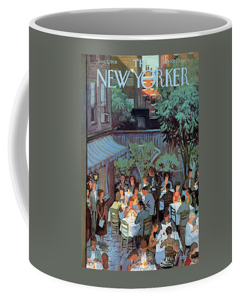 Arthur Getz Agt Coffee Mug featuring the painting New Yorker August 2nd, 1958 by Arthur Getz