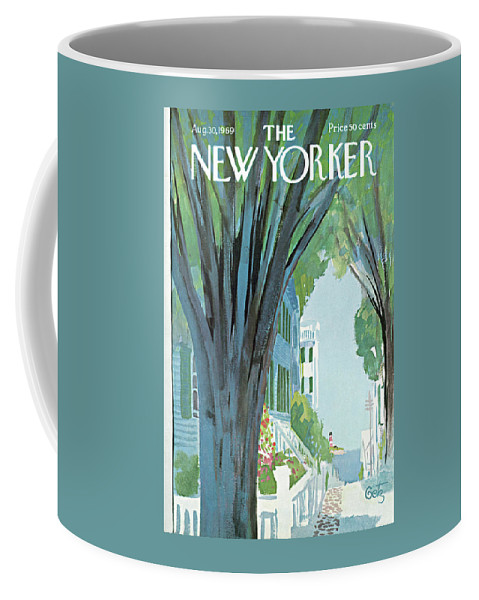 Arthur Getz Agt Coffee Mug featuring the painting New Yorker August 30th, 1969 by Arthur Getz