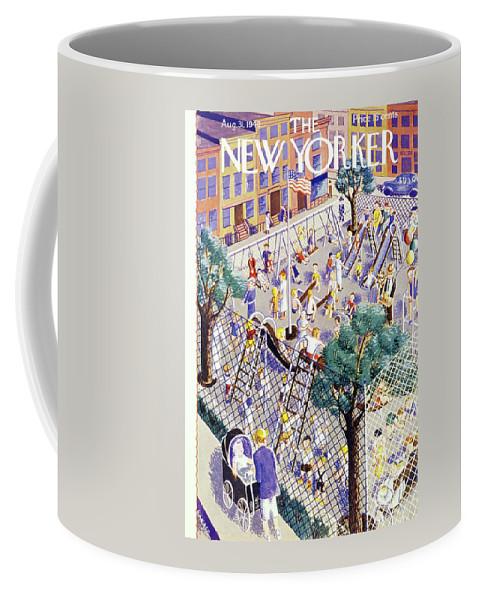 Children Coffee Mug featuring the painting New Yorker August 31 1940 by Ilonka Karasz