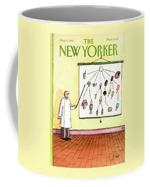 Food Coffee Mug featuring the painting New Yorker August 4th, 1986 by Roz Chast