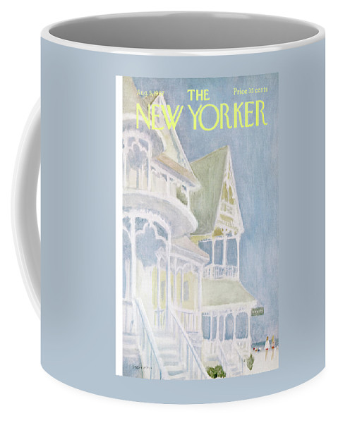 James Stevenson Jst Coffee Mug featuring the painting New Yorker August 5th, 1967 by James Stevenson