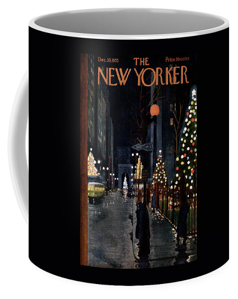 Urban Coffee Mug featuring the painting New Yorker December 10th, 1955 by Alain