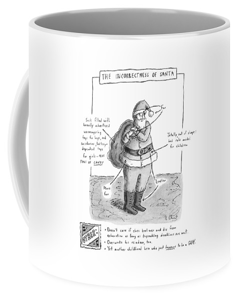 Holidays Coffee Mug featuring the drawing New Yorker December 19th, 1994 by Roz Chast