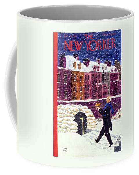 Military Coffee Mug featuring the painting New Yorker December 21 1940 by Robert Day