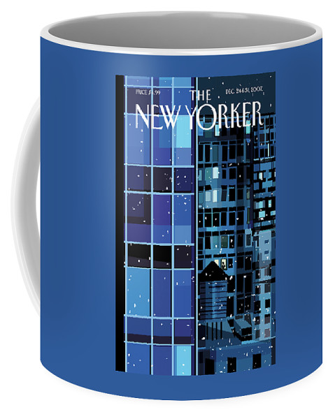 Urban Coffee Mug featuring the painting New Yorker December 24th, 2007 by Kim DeMarco