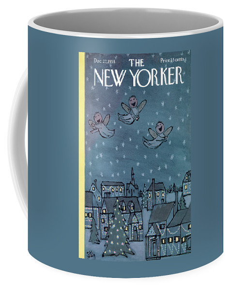 William Steig Wst Coffee Mug featuring the painting New Yorker December 27th, 1958 by William Steig