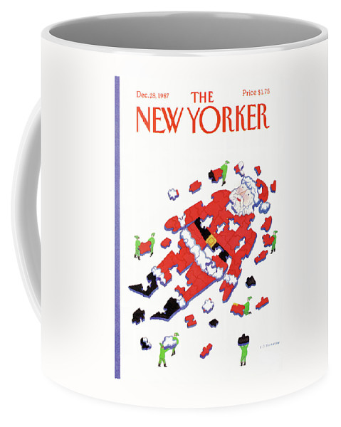 Christmas Coffee Mug featuring the painting New Yorker December 28th, 1987 by Lonni Sue Johnson