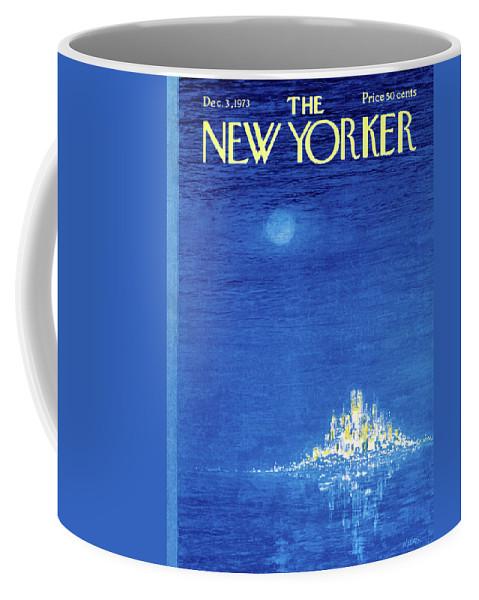 Robert Weber Coffee Mug featuring the painting New Yorker December 3rd, 1973 by Robert Weber