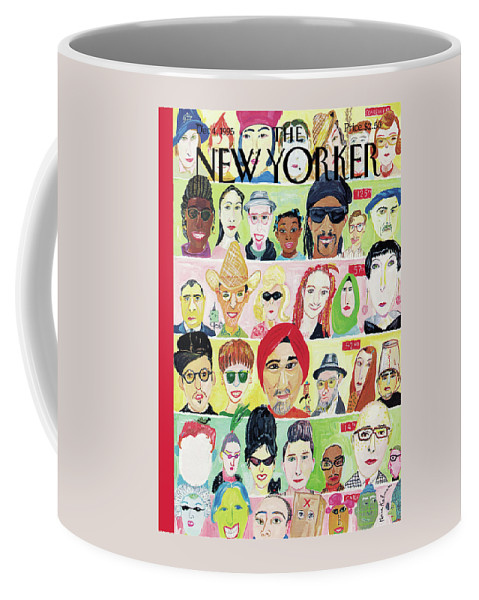 Crosstown Traffic Coffee Mug featuring the painting New Yorker December 4th, 1995 by Maira Kalman