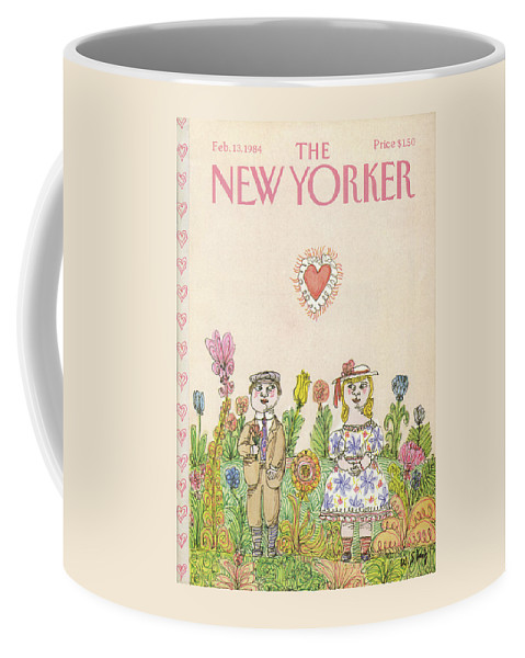 Holiday Coffee Mug featuring the painting New Yorker February 13th, 1984 by William Steig