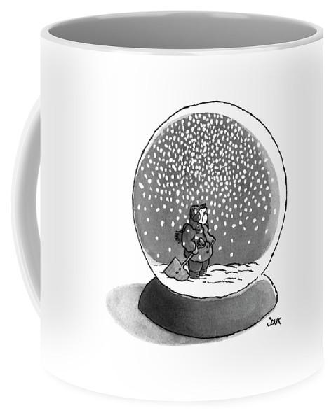 Philosophy Coffee Mug featuring the drawing New Yorker February 14th, 1977 by John Jonik