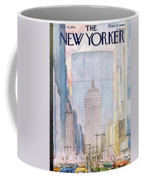 Traffic Coffee Mug featuring the painting New Yorker February 16th, 1963 by Alan Dunn