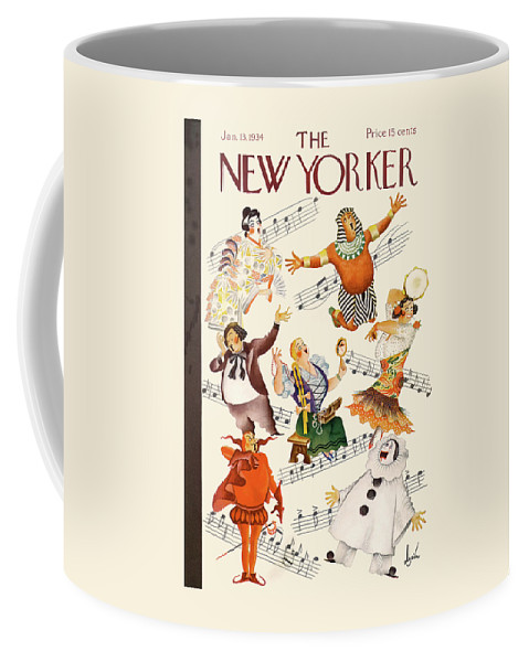 Aida Coffee Mug featuring the painting New Yorker January 13th, 1934 by Constantin Alajalov