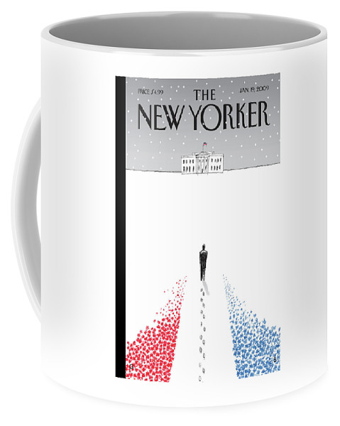 Politics Coffee Mug featuring the painting New Yorker January 19th, 2009 by Guy Billout