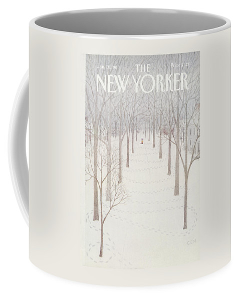 Season Coffee Mug featuring the painting New Yorker January 26th, 1981 by Charles E Martin