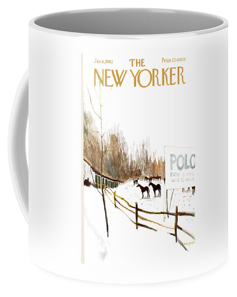 Suburb Coffee Mug featuring the painting New Yorker January 6th, 1962 by James Stevenson