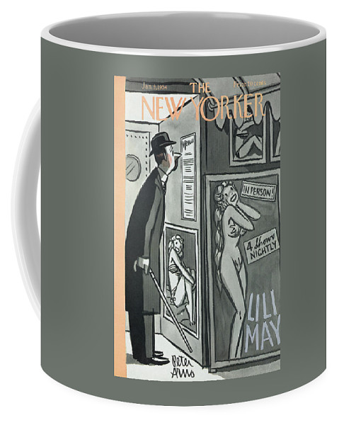 Sex Coffee Mug featuring the painting New Yorker January 9th, 1954 by Peter Arno