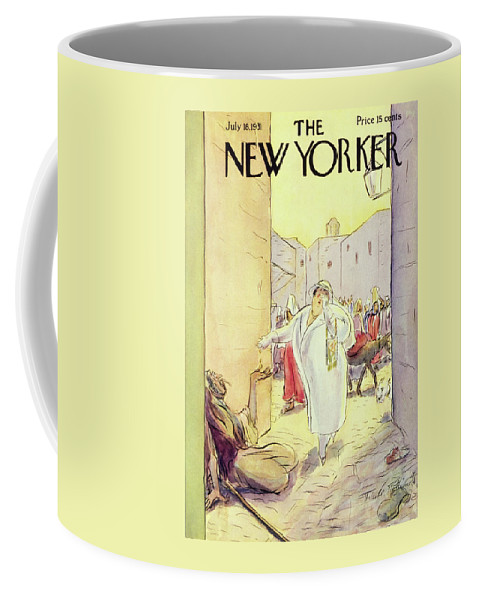 Illustration Coffee Mug featuring the painting New Yorker July 18 1931 by Helene E. Hokinson