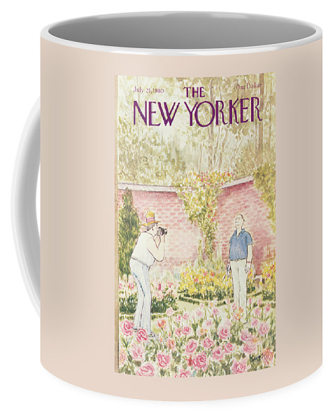 Leisure Coffee Mug featuring the painting New Yorker July 21st, 1980 by Charles Saxon