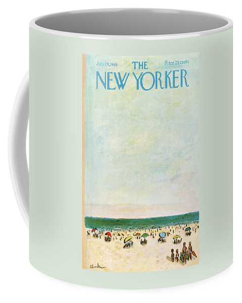 Sea Coffee Mug featuring the painting New Yorker July 29th, 1961 by Abe Birnbaum