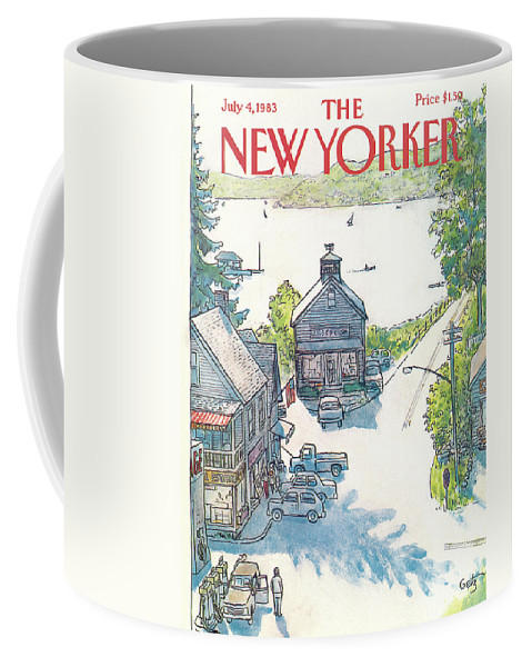 Rural Coffee Mug featuring the painting New Yorker July 4th, 1983 by Arthur Getz