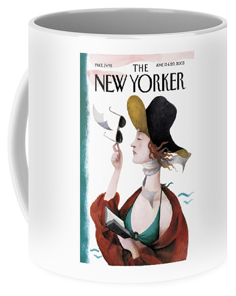 Eustace Tilley Coffee Mug featuring the painting Debut On The Beach by Ana Juan