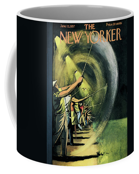 Golf Coffee Mug featuring the painting New Yorker June 15th, 1957 by Arthur Getz