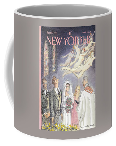 And Forsaking All Others Artkey 50947 Eso Edward Sorel Coffee Mug featuring the painting New Yorker June 15th, 1998 by Edward Sorel