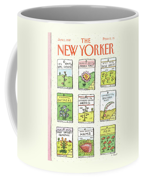Dining Coffee Mug featuring the painting New Yorker June 1st, 1987 by Roz Chast