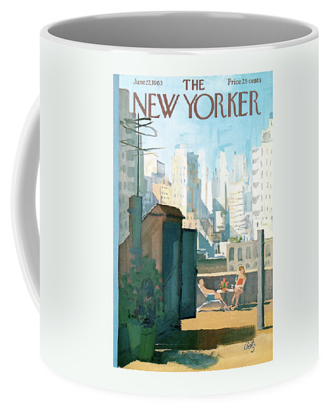 Coffee Mug featuring the painting New Yorker June 22nd, 1963 by Arthur Getz