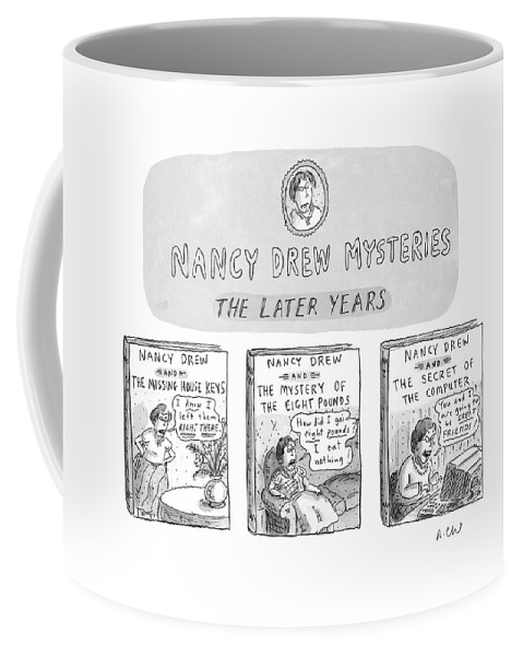 Old Age Coffee Mug featuring the drawing New Yorker June 22nd, 1998 by Roz Chast