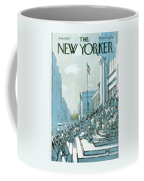 Summer Coffee Mug featuring the painting New Yorker June 27th, 1977 by Arthur Getz