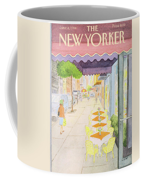 Urban Coffee Mug featuring the painting New Yorker June 4th, 1984 by Charles E Martin
