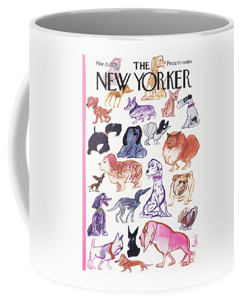 Animals Coffee Mug featuring the painting New Yorker March 21st, 1970 by Kenneth Mahood