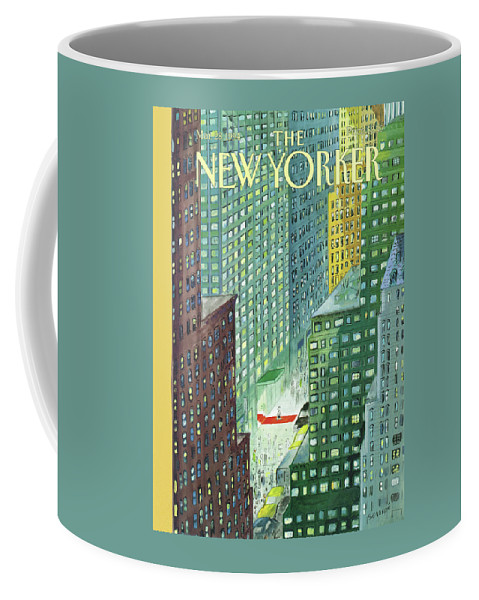 Red Carpet Coffee Mug featuring the painting New Yorker March 28th, 1994 by Jean-Jacques Sempe