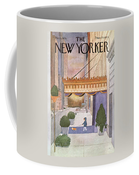 Upper East Side Coffee Mug featuring the painting New Yorker March 8th, 1976 by Charles E Martin