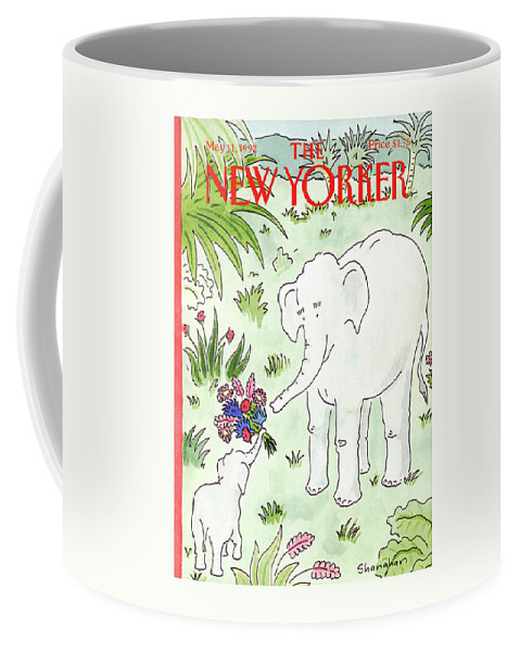 Animals Coffee Mug featuring the painting New Yorker May 11th, 1992 by Danny Shanahan