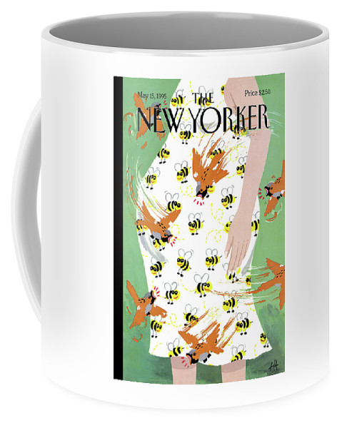 Mother's Day Coffee Mug featuring the painting New Yorker May 15th, 1995 by Bob Zoell