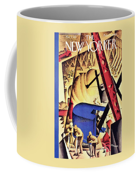 Illustration Coffee Mug featuring the painting New Yorker May 2 1931 by I. G. Haupt