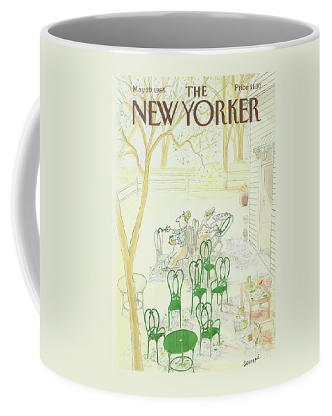 Restoration Coffee Mug featuring the painting New Yorker May 20th, 1985 by Jean-Jacques Sempe