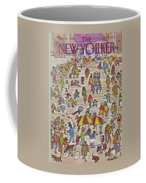 Metropolitan Museum Coffee Mug featuring the painting New Yorker May 21st, 1984 by James Stevenson