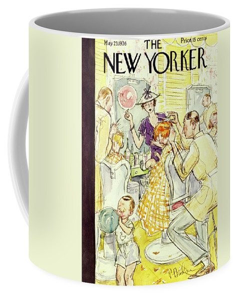 Illustration Coffee Mug featuring the painting New Yorker May 23 1936 by Perry Barlow