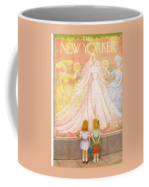 Marriage Coffee Mug featuring the painting New Yorker May 29th, 1954 by Edna Eicke