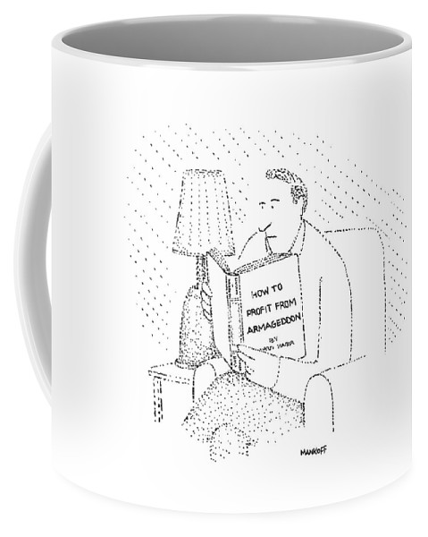 Writing Coffee Mug featuring the drawing New Yorker May 4th, 1981 by Robert Mankoff