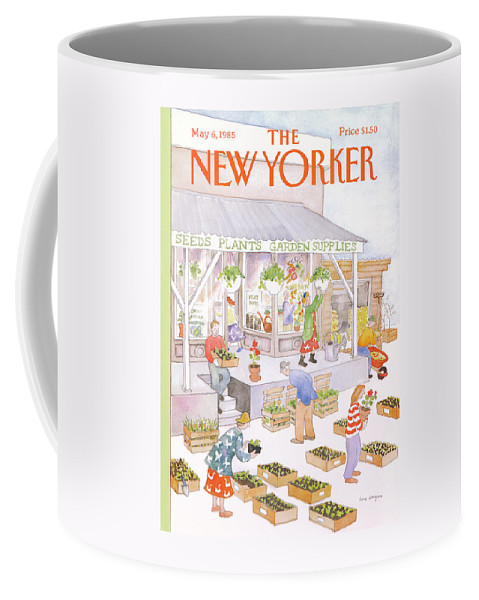 Garden Coffee Mug featuring the painting New Yorker May 6th, 1985 by Anne Burgess